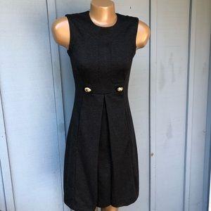 982c7f5e52 Banana Republic Polyester Wool Blend Pleated Dress